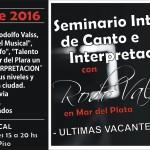 2016 – Seminario de Canto con Rodo Valss