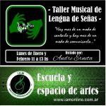 «TALLER MUSICAL DE LENGUA DE SEÑAS» – PROF. ANDREA ERNETA